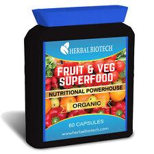 Herbalbiotech FRUTTA E VERDURE 60 Capsule Organic vitamine Juice Plus Nutrition