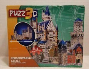 NEW Puzz3D Neuschwanstein Castle 836 Pieces