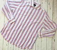 H HILFIGER Button Long Sleeve Shirt Men's Size 2XL (B)