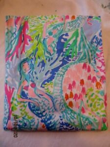 Pottery Barn LILLY PULITZER Mermaid Cove FLAT  FULL SHEET  NWOP SO COOL