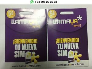TARJETA SIM LLAMAYA / 5€/ PREPAGO SALDO INCLUIDO / NUMERO NUEVO / ACTIVADA CON S