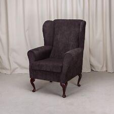 Wing Back Orthopaedic Fireside Chair in a Jumbo Cord Metropolis Chocolate Fabric
