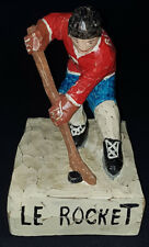 "1962 - MAURICE ""LE ROCKET"" RICHARD - FOLK ART ONE PIECE HAND CARVED WOOD STATUE"