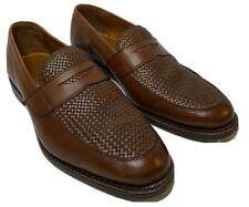 Allen Edmonds Lake Bluff  Weave Dress Penny Loafers Size 8.5 E Walnut 1088 USA