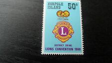 NORFOLK ISLAND 1980 SG 234 LIONS CONVENTION  MNH