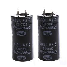 New  2Pcs Super Capacitor 2.7V 100F Ultra Capacitor Farad