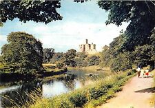 BR92359 warkworth castle and the river coquet northumberland  uk