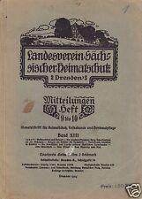 Mitteilungen d. Landesverein Sächsischer Heimatschutz Dresden, Heft 9/10, 1924