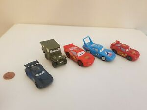Disney Pixar Cars Bundle Lot x5, 1:55, Plastic,Jackson Storm,King,Sarge,McQueen
