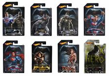 Hot Wheels Batman vs Superman - Completo Conjunto de 8 COCHES - djl47-
