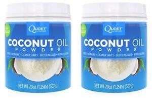Quest Nutrition Coconut Oil Powder, 1.25 lb (20 oz) - 2 PACK = 112 Servings