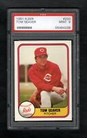 1981 FLEER #200 TOM SEAVER HOF REDS PSA 9 MINT SHARP CARD!
