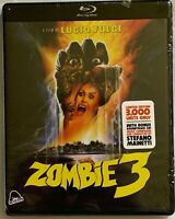 NEW ZOMBIE 3 LIMITED EDITION BLU RAY CD 2 DISC SEVERIN EXCLUSIVE ONLY 3000 MADE