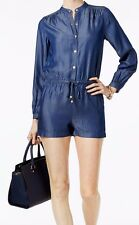 ee5737466422 Michael Kors MU78WCA5FS Chambry Romper Shorts in Blue Medium  125