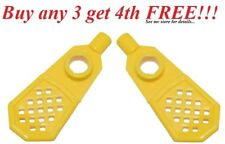 ☀️NEW LEGO MINIFIG YELLOW SNOWSHOES Winter Camping Hiking Outdoor Snow Shoes