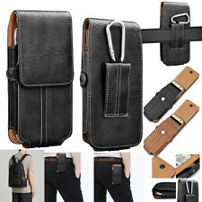 Cell Phones Vertical Leather Carrying Pouch Case Cover Holster With Belt Loop