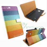 Custodia booklet ARCOBALENO per Samsung Galaxy Note 4 N910F flip cover stand