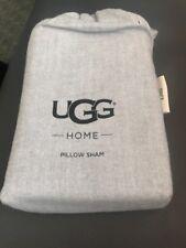 Ugg King Pillow Sham flannel Cotton herringbone Grey Bedding