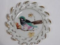 vintage RELCO Creations Japan handpainted china collector PLATE w/ BIRD in tree