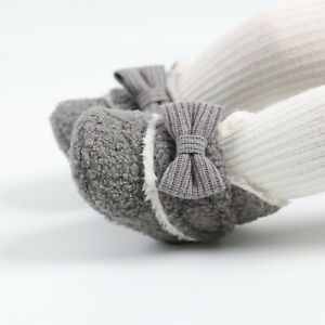 Fashion Lovely Newborn Baby Girl Bow Crib Shoes Infant Child Winter Snow Boots