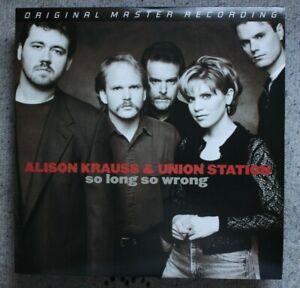 Alison Krauss & Union Station So Long So Wrong Mobile Fidelity MFSL 2-276 Vinyl