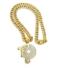 """ROCAFELLA PIECE PENDANT WITH 12mm 30"""" ICE BLING MIAMI CUBAN CHAIN"""