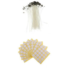 "Candle Wicks 6""/8"" Cotton Core Candle Making Supplies + Stickers x 100"