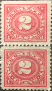 Scott #R229 Pair US 1917 2 Cents Documentary Stamps XF