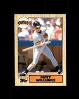 Matt Williams  Rookie Card 1987 Topps Traded #129T San Francisco Giants
