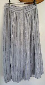 SESSUN Tindaya Stripe Maxi Skirt Size 40 Size 14 AU Casual Fully Lined