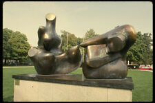 470077 Bronze Statue Two piece Reclining Figure By Moore Germany A4 Photo Print