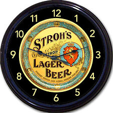 Strohs Beer Tray Wall Clock Detroit MI Ale Lager Brew Pub Man Cave New 10""