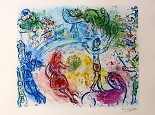 "MARC CHAGALL ""LE CIRQUE"" Facsimile Signed & Numbered Lithograph CIRCUS"