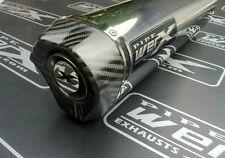 Suzuki GSXR 750 Y K1 K2 K3 K4 K5 Stainless Tri Oval Carbon Outlet Exhaust Can