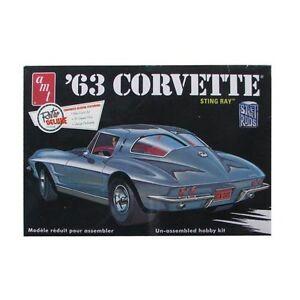 2014 AMT 861 1963 Chevy Corvette Sting Ray Strada Asta Kit Modello Nuovo Nel Box