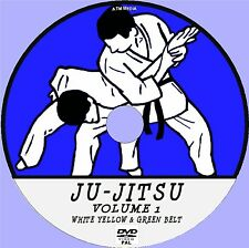JU-JITSU VIDEO TRAINING LESSONS DVD 1, WHITE YELLOW & GREEN BELT MOVES DEMO NEW