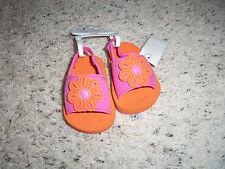NEW GIRLS KOALA KIDS PINK & ORANGE FLIP FLOPS SIZE 3