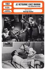 FICHE CINEMA : JE RETOURNE CHEZ MAMAN  Holliday,Ray,Cukor 1951 The Marrying Kind