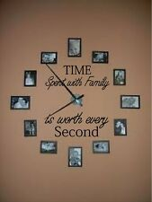 TIME SPENT WITH FAMILY IS WORTH EVERY SECOND VINYL WALL LETTERS HOME DECOR