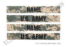 2 U.S. Army ACU Name Tape & Service Tape Sets w/o Hook Fastener for Sew-on Only