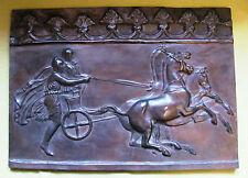 """Bronze Relief Bild """"Streitwagen""""; Bildgisserei Kraas 1Berlin44"""