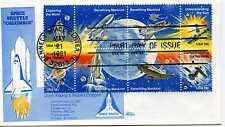 1912-19 Space Achievements, Bazaar, block of 8, FDC