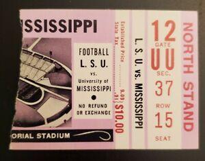 Ole Miss Rebels LSU Tigers Football Ticket Stub 10/29 1977 RB Charles Alexander