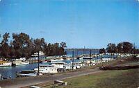 Louisville Kentucky~Municipal Boat Harbor~Ohio River~1957 Postcard