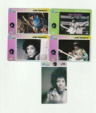 (5) Jimi Hendrix Rare Phone Cards