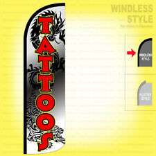 TATTOOS Windless Swooper Flag 3x11.5 ft Feather Banner Sign Dragon wq