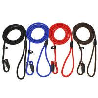 Thin Slip Lead Dog Leash Durable Nylon Adjustable Loop Slip Lead Pet