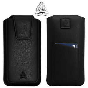 Leather Pouch Pull Tab for Mobile Phones Protective Case XL Size New
