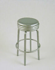 Dollhouse Miniature Kitchen Bar Stool with Silver Top,T5923