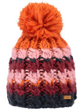 Barts Feather Bobble Hat in Maroon